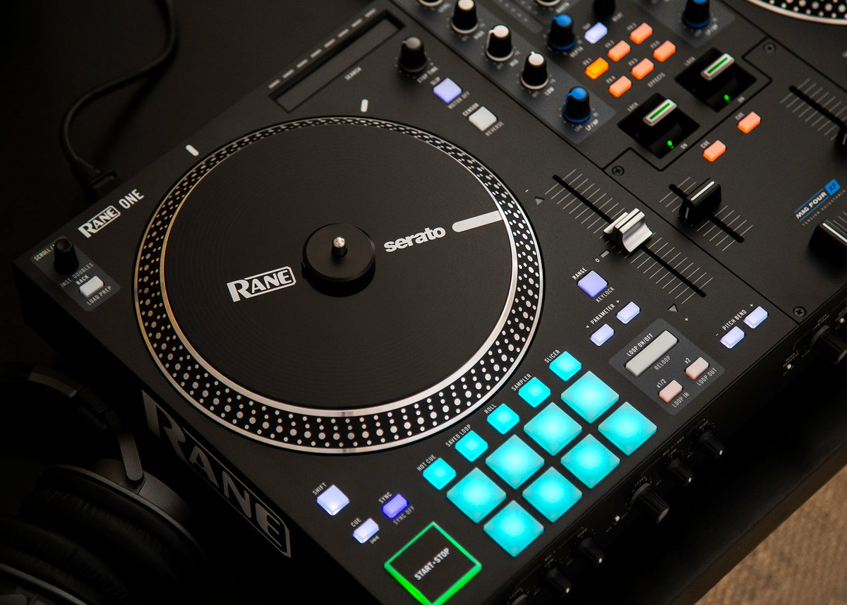 "Take control. The new @RaneDJ ONE Controller combines the traditional turntable/mixer feel of its 7"" motorized platters and ultra-light MAG FOUR crossfader with instant access to FX, Hot Cues, Samples and more.  Learn more and order yours:"