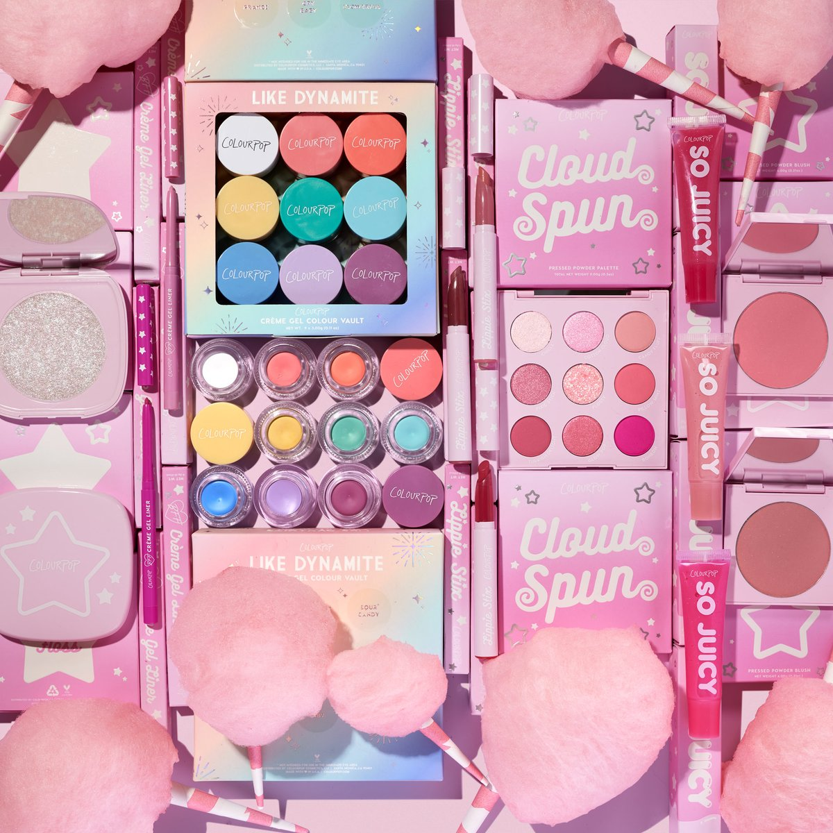 🍭Sweet Like Candy #GIVEAWAY 🍭  We will be giving away the Cotton Candy Collection + the Like Dynamite Creme Gel Vault to 5 lucky people! Check out our IG, FB, TikTok for another chance to win!   To enter: 🍭Like & RT 🍭follow @ColourPopCo