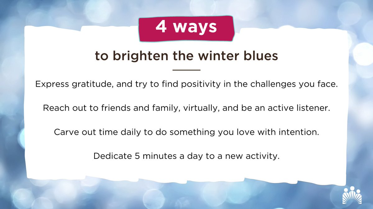 Many people are experiencing increased isolation this winter with more time inside and less sunlight. Matthew Holve, MD, a psychiatrist, shares tips on how to boost your mood and take care of your mental and physical health. https://t.co/KgDVbmSX8u https://t.co/UtLEQ7Ftas