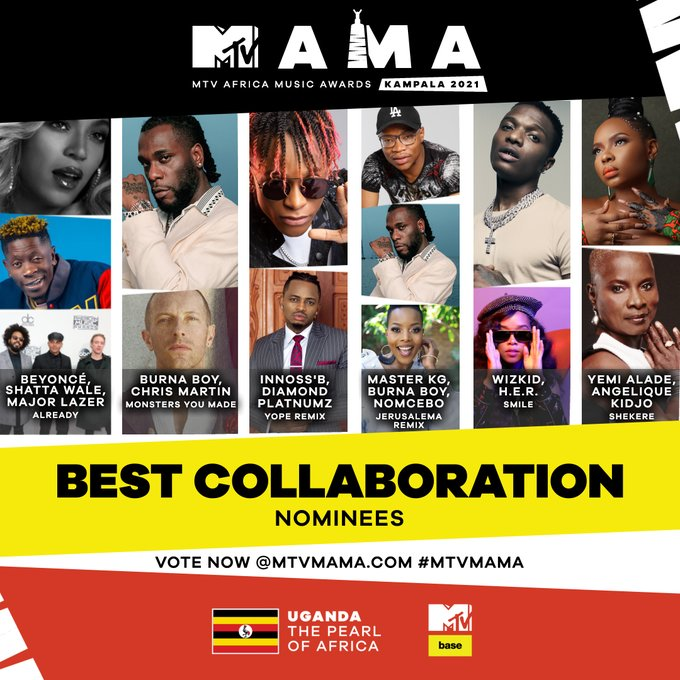 So many dope artists worked together in 2020, what was the Best Collaboration that put Africa in a vibe and deserves to win at the #MTVMAMA 2021 in Kampala?