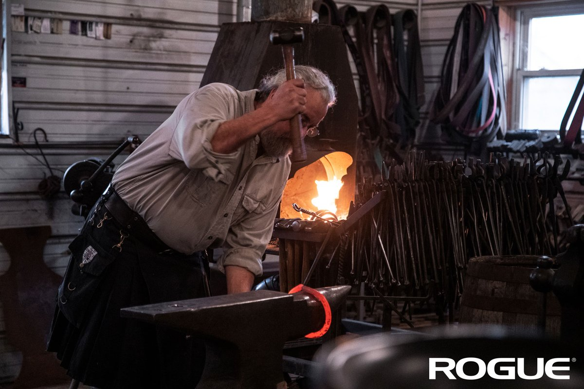 Modeled after the look & feel of the century-old iron grips found on Scotland's Dinnie Stones, the Rogue Dinnie Rings are all individually hand-forged from American steel by the experienced blacksmiths at Lockhart Ironworks in Logan, Ohio.   Dinnie Rings: