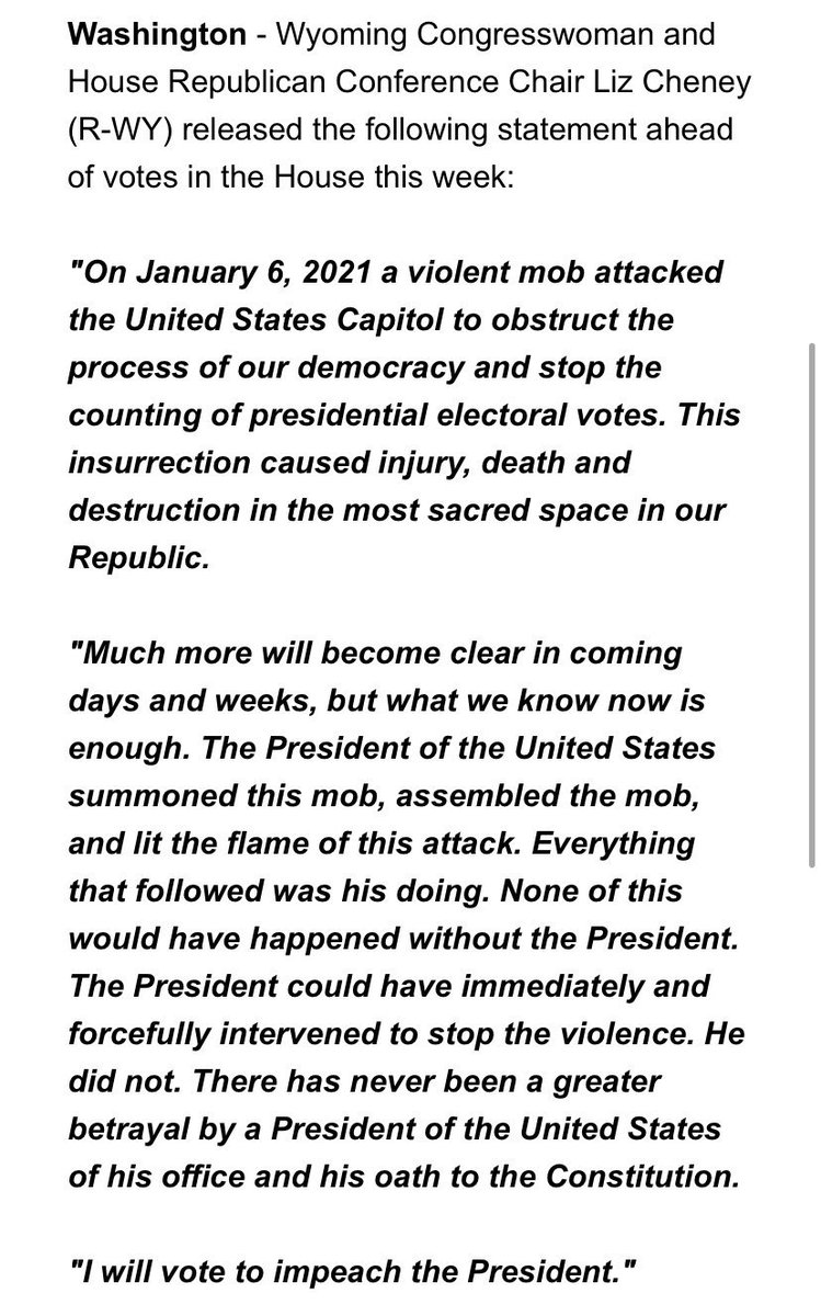 Replying to @SpiroAgnewGhost: @gtconway3d @RepLizCheney's statement is 🔥🔥🔥🔥🔥🔥🔥🔥🔥🔥🔥