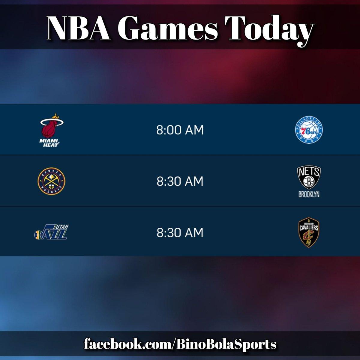NBA games today! #RegularSeason #Day21 #BinoBolaSports #GamesSchedules (1/2)
