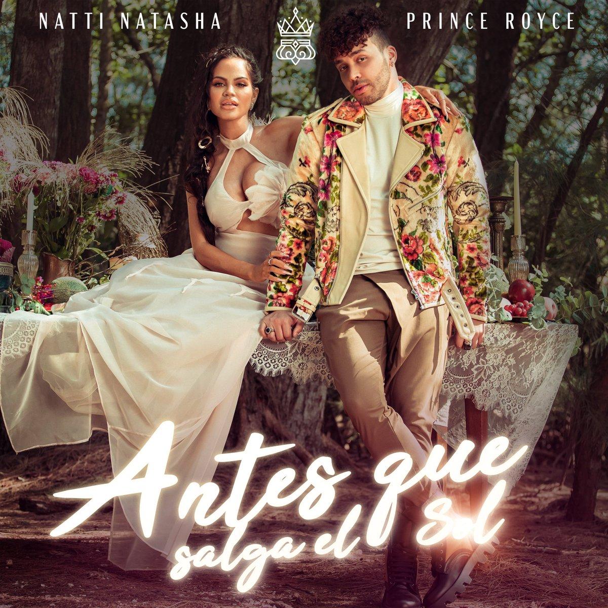 ¡Sorpresa! @NattiNatasha  revela la portada y su nueva colaboración junto a @PrinceRoyce para #AntesQueSalgaElSol su nuevo sencillo. Ya puedes hacer presave aquí para ser de los primeros en escucharlo: