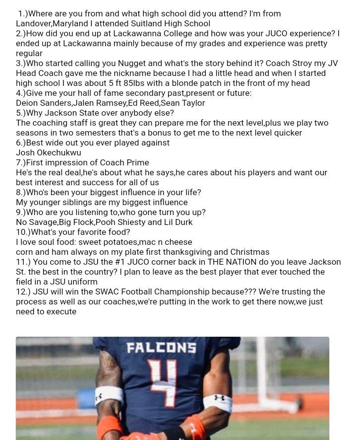 "Recap! 📬 ""No Huddle"" Interview with the #1 JUCO corner back in THE NATION Jackson State signee @Ayoooo_daeee De'Jahn ""NUGGET"" Warren @SocialSportsMs @WLBT @bshields0244 @DeionSanders @sprivett_tv @GoJSUTigers @GoJSUTigersFB @josekentrell @CoachTReed @247Sports @LCFalconsFB"