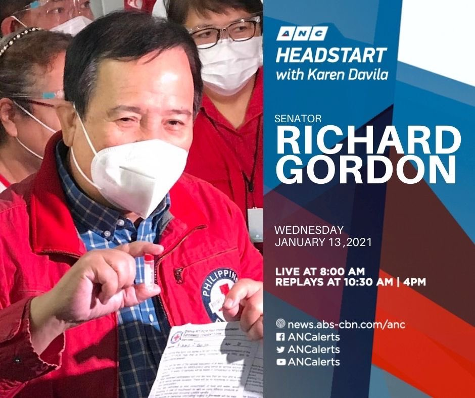 When will PH get to use the SALIVA TEST? Sen Richard Gordon joins us to also talk about the govt's vaccine program & Philhealth's dues with Red Cross.  OCTA Research discusses areas in NCR with an upward trend in COVID19 cases #ANCHeadstart 8-9am @ANCALERTS