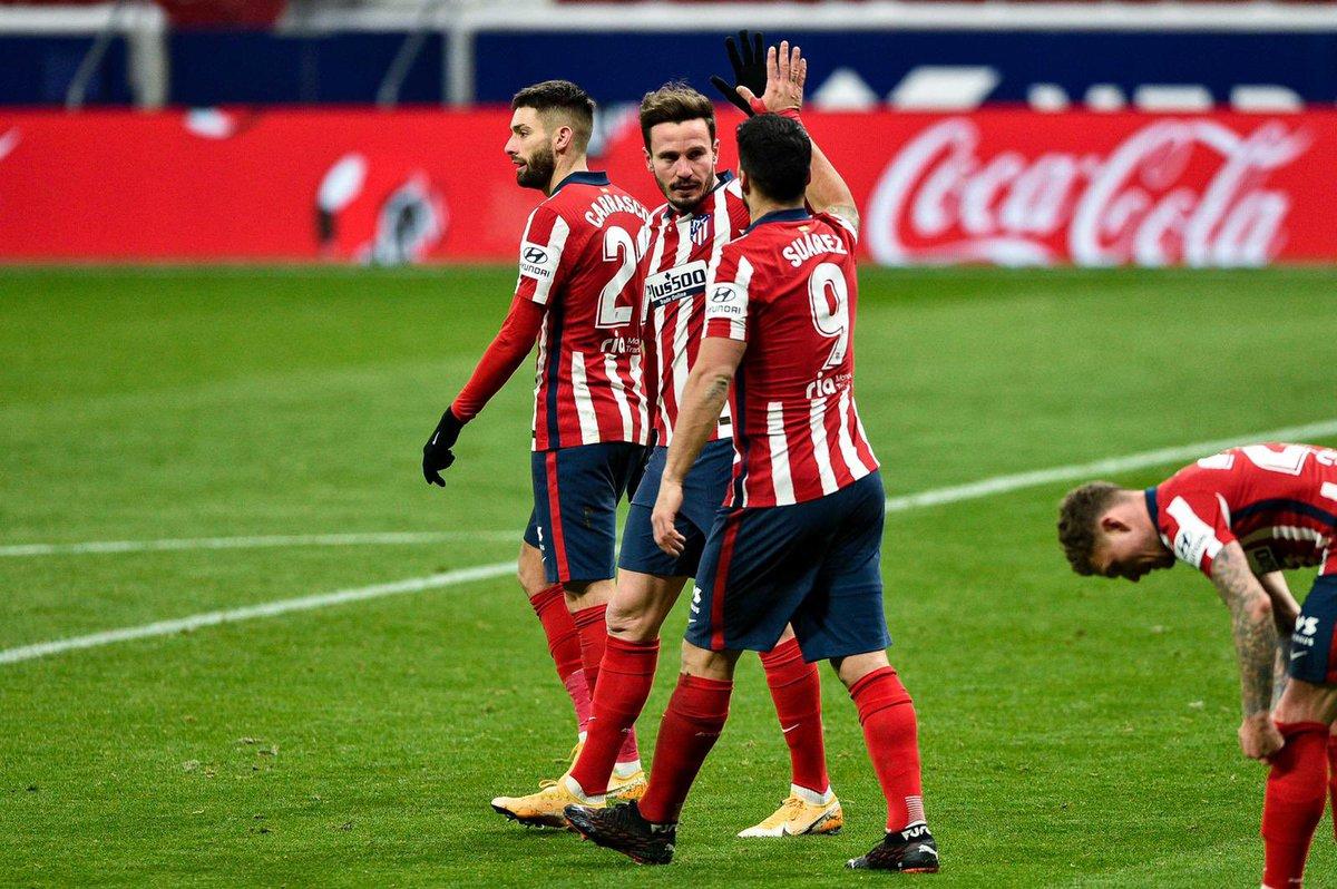 GRANDE EQUIPO 💪💪💪💪 3 puntos más y a seguir así! 👊👊🔴⚪️ @Atleti o# #grantrabajo #siemprepositivo #siemprejuntos
