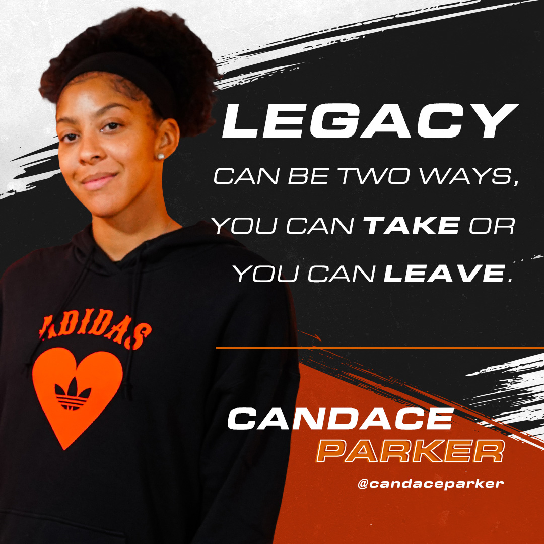 """""""Legacy can be two ways, you can take or you can leave."""" - @Candace_Parker  Reply with a 🔥 if you agree!  Be sure to check out the full interview with WNBA superstar @Candace_Parker here:"""