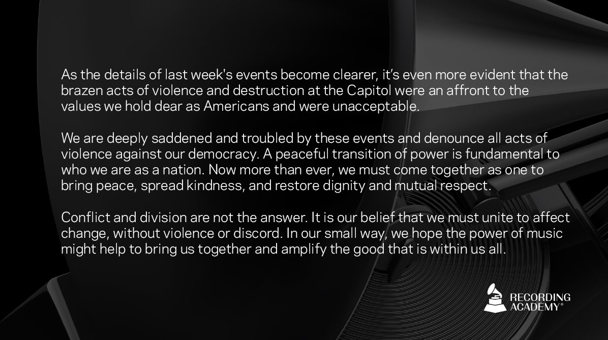 Replying to @RecordingAcad: A message from the Academy.