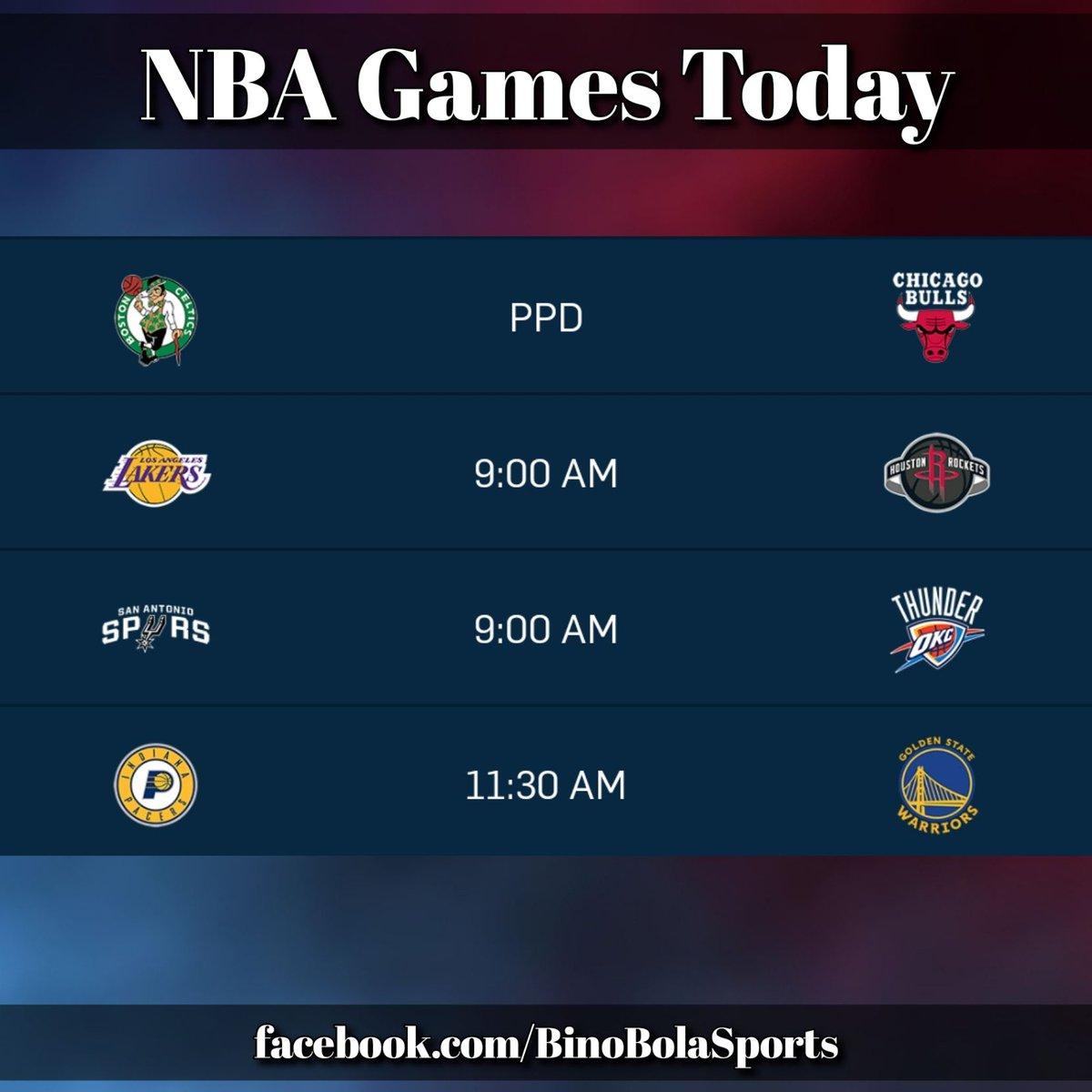 NBA games today! #RegularSeason #Day21 #BinoBolaSports #GamesSchedules (2/2)