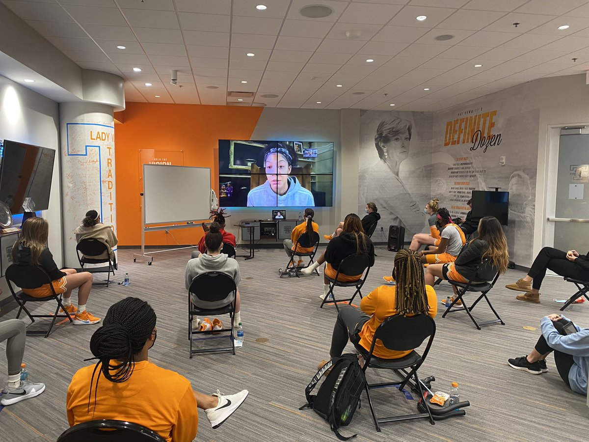 Special thanks to @Candace_Parker for zooming in today and dropping lots of nuggets to the team on how to be a pro!