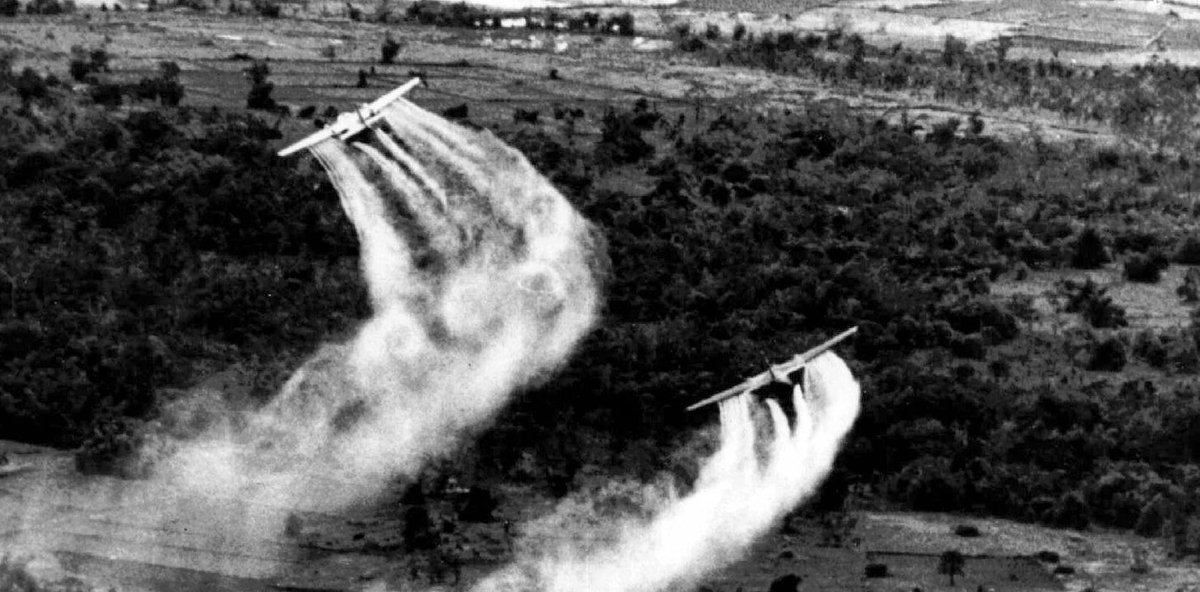 On this day in 1962, the US military began its 11-year chemical warfare campaign against the people of Vietnam and Laos, dropping 19 million gallons of Agent Orange over 20% of both countries, poisoning at least 3 million people and causing over a million birth defects. https://t.co/rEDskf52sI