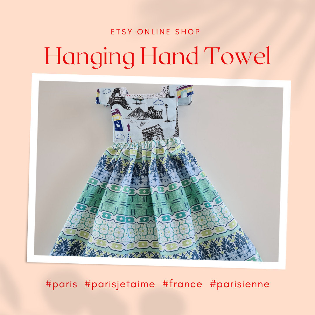 Excited to share the latest addition to my #etsy shop: Cute Hanging Hand Towels  #white #gold #cotton #hangit #vintagelook #interiordesign #kitchendecor #homedecor #homemade #parismonamour #hello_france #thisisparis #fashion #parismaville