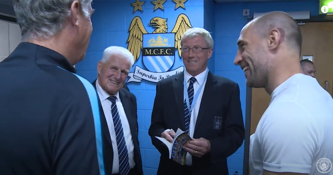 @pablo_zabaleta Kiddo introducing Dad & Skip to you in the tunnel. He was a big fan Pablo. He loved players who always gave their all for the club & you epitomised that. https://t.co/xAzQ3Rfd9k