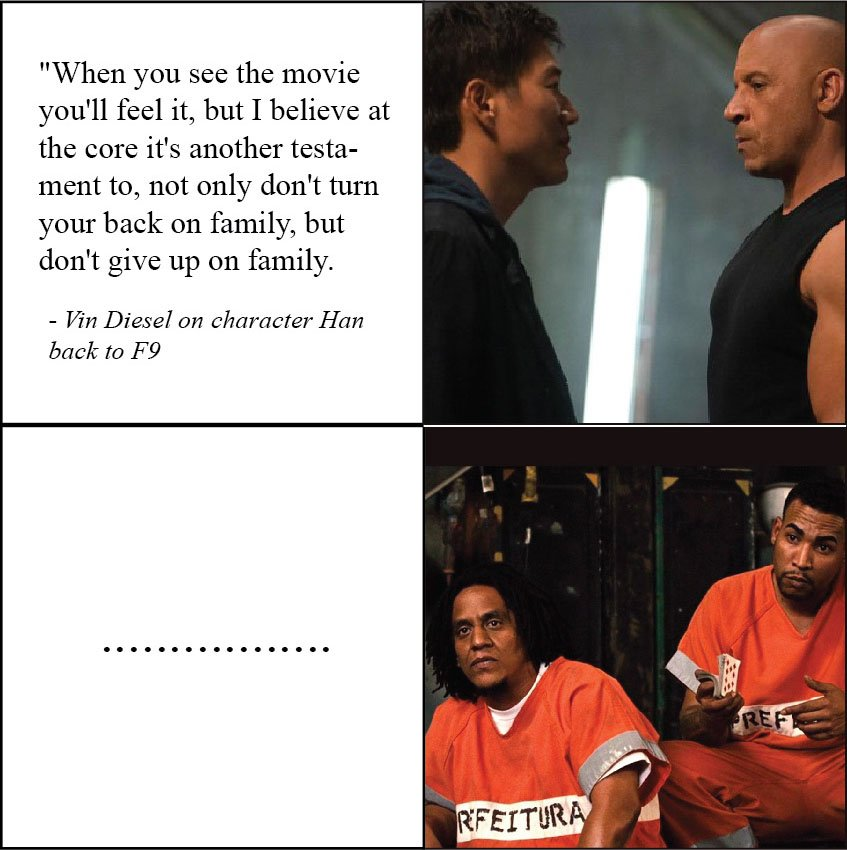 When you realize you are not part of the family.. #f9 #fastandfurious #FAST9 #fastfamily #fastandfurioussaga #fastsaga