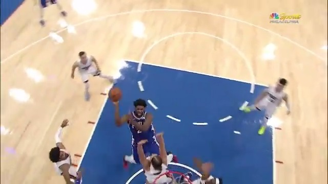 Replying to @BleacherReport: Embiid took over for Philly in OT ♨️  Dropped a 45-piece tonight