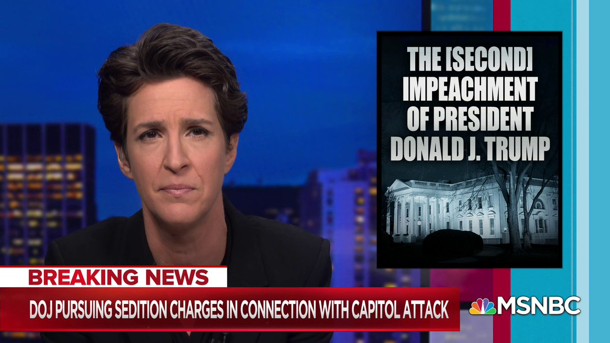 """""""Mr. President, you will invite the invocation of the 14th Amendment to ban you from ever holding public office again in United States, like the Confederate traitors before you,"""" @Maddow says.  """"What did you think was going to happen? Did you think it would work?"""""""