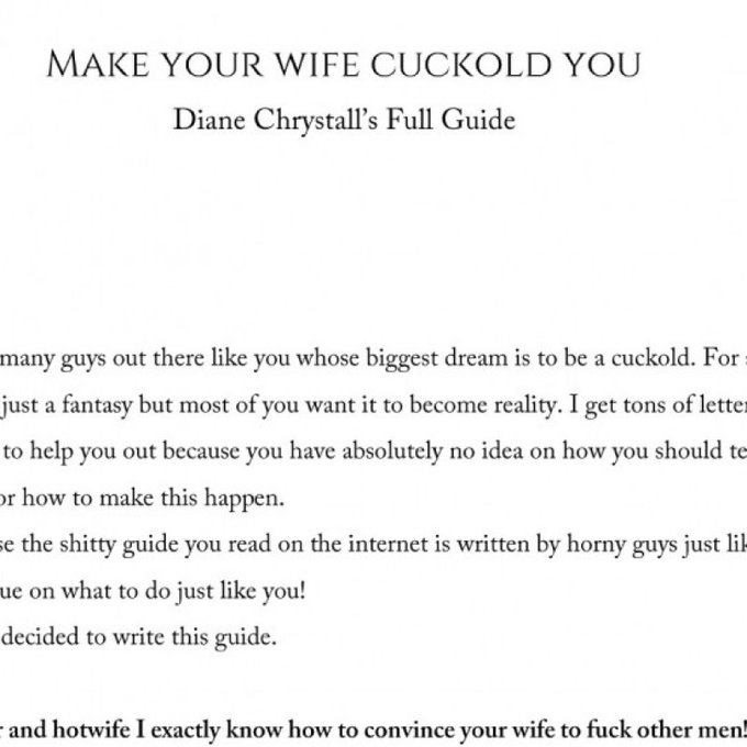 Yay! I just sold my Store Item: Make your wife Cuckold you PDF Guide! Check it out here https://t.co/4yVGIOhpWY