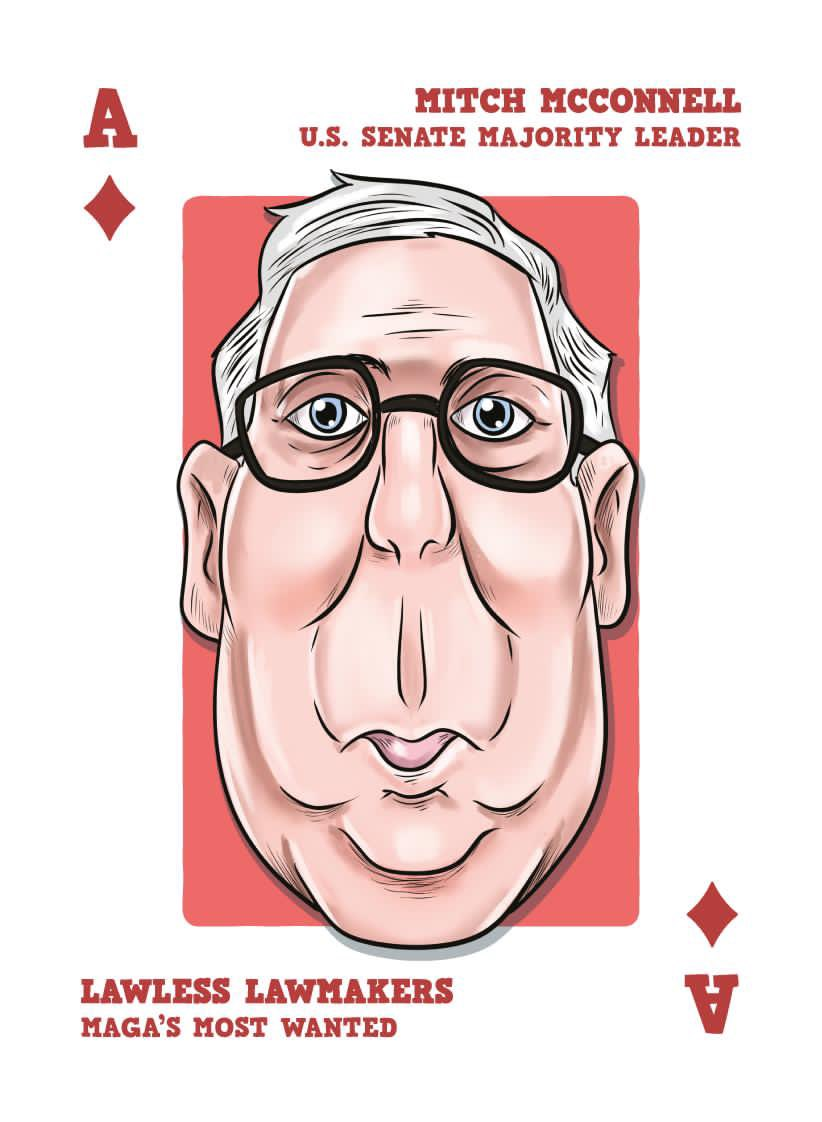 What a week for Mitch McConnell. He lost his power last Tuesday thanks to some amazing Georgia voters. He was locked in the Capitol during the insurrection. His wife quit her cushy cabinet gig. Now he's leaking that he's open to impeachment. The Ace♦️at https://t.co/33IjBzUT25 https://t.co/QDUJwamKWc