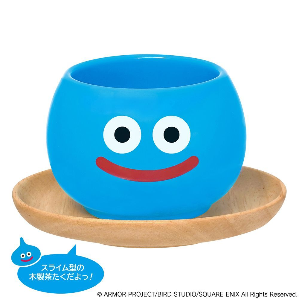 #DragonQuest is getting a new adorable tea cup & saucer set from Square Enix! This set comes with a blue Slime tea cup and a matching wooden Slime shaped saucer. #Aitaikuji Release Date: February 2021