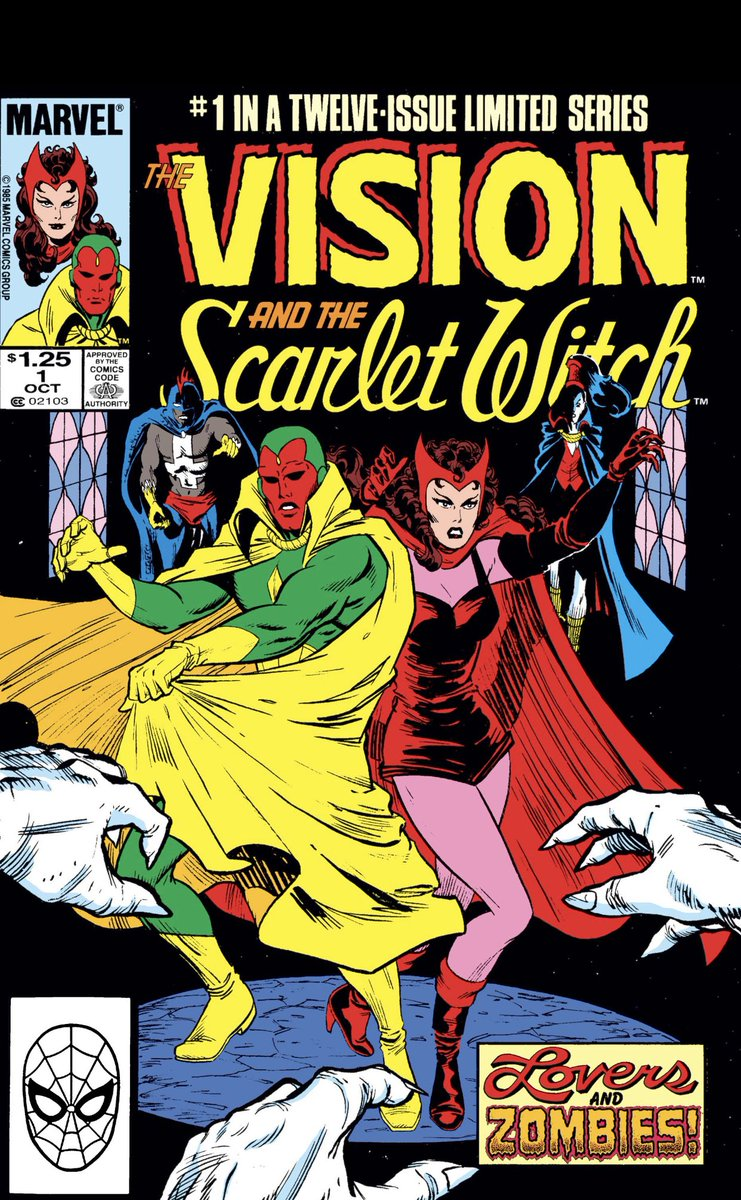 In preparation for #WandaVision @wandavision hitting #DisneyPlus @disneyplus on Friday I suggest to check out #TheVisionandScarletWitch comics that came out in 1985. There are 12 issues. You can find them on #MarvelUnlimited. IDK how much this run is going to play into the show