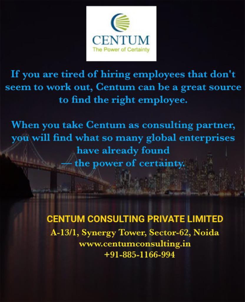 If you are tired of hiring employees that don't seem to work out, Centum can be great source to find the right employees. #Recruitment #Hiring #TalentTakesPractice #Jobs #vacancies #jobsearch #Leadership