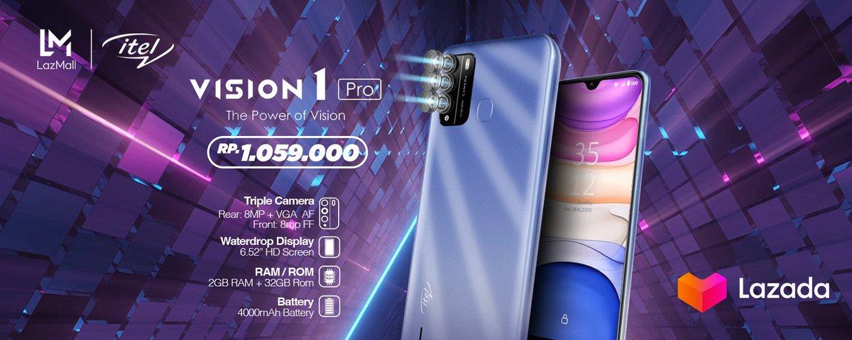 Ada yang terbaru nih dari Itel Vision 1! Selain memiliki triple kamera, dia juga memiliki kelebihan waterdrop display alias waterproof lho dan yang pasti baterai nya tahan lama! Langsung cek disini:   #LazadaID #YakinDariHati #LAzadaNewYearSale