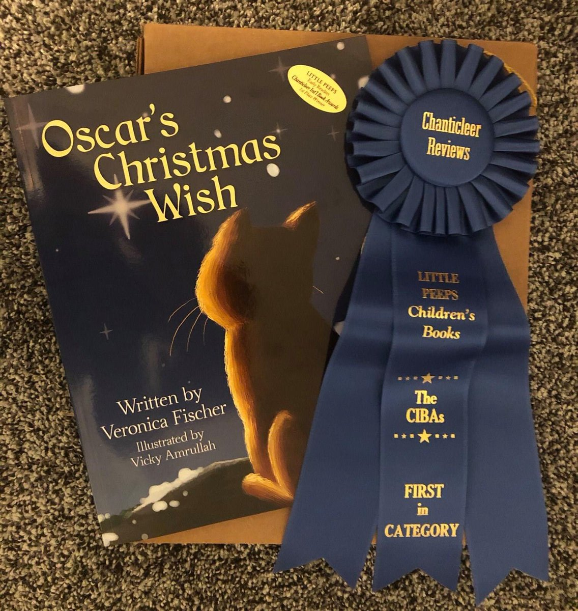 @ZacEfron was watching your show #downtoearth and saw that you loved Ocelots and my Fiancé Wrote a Children's book called Oscar's Christmas Wish and we want to know how to sent you a copy! #oscarschristmaswish