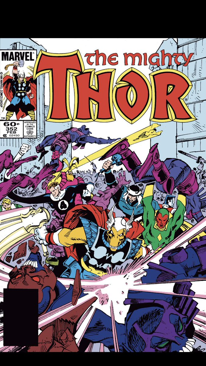 #comicbeforebed Thor No. 352, February, 1985. Odin and Surtur clash, Lady Sif rides in for demon slaying, and Beta Ray Bill anguishes 💥👿😱 #Thor #MarvelComics #MarvelUnlimited #digitalcomics @WalterSimonson @marvel @MarvelUnlimited