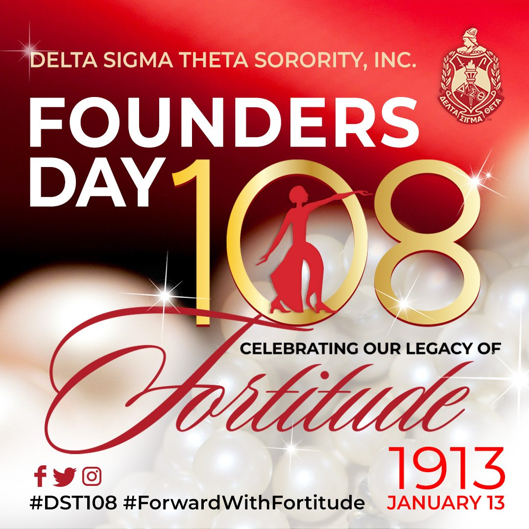 The 22 Founders of Delta Sigma Theta Sorority, Incorporated imagined humanity & impact beyond what was common for the time. It is their foresight & fortitude that we celebrate during this 108th anniversary of sisterhood, scholarship, service, & social action. 🔺  #DST1913 #DST108