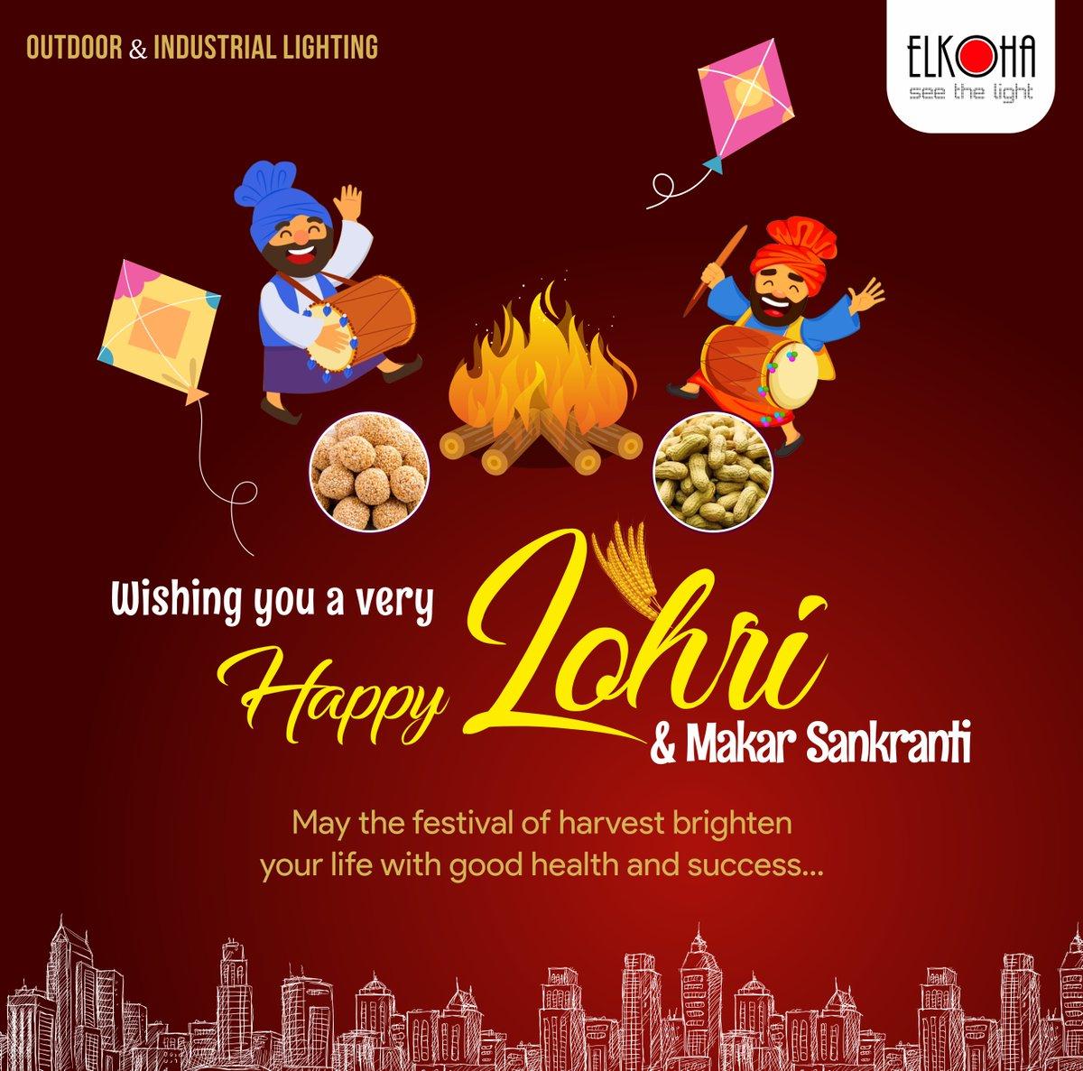 Seasons Greetings from Elkoha.  Happy Lohri & Makar Sankranti_2021 #happylohri #lohri #festival #happy #lohricelebration #celebration #india #makarsankranti #lohrifestival #happymakarsankranti #elkoha #Lighting #LED #LEDlighting #Elcomponics #ledlightingsystems #LEDlights #light https://t.co/jjZedJdQsx