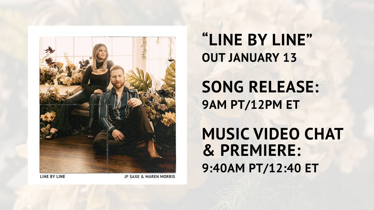 For those of yall askin for times..  Pre-save #LineByLine:  Set your live stream/music video premiere reminder: