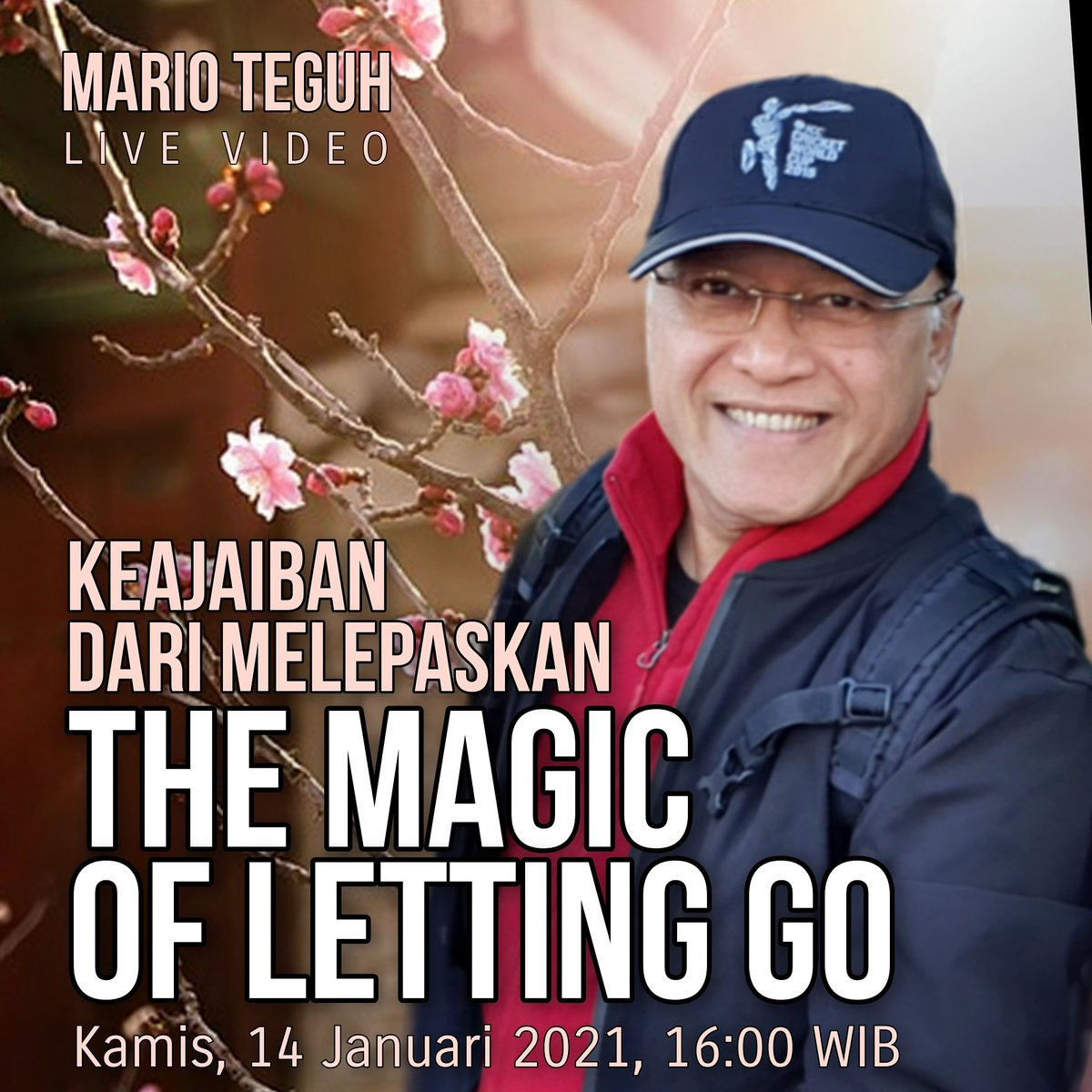 BESOK SORE di   MTLV - KEAJAIBAN DARI MELEPASKAN   The Magic of Letting Go  Kamis, 14 Januari 2021 Jam 16:00 WIB  Sampai besok ya?  Terima kasih dan salam super! 💗💝💖  #MarioTeguh #live #melepaskan #magic #keajaiban #lettinggo #ikhlas #berserah #letgo