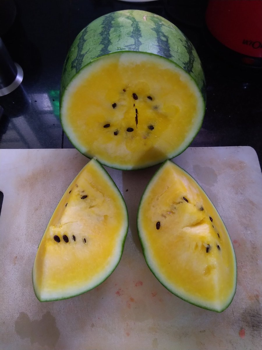 A Yellow watermelon! For the first time in my life, am going to have one...