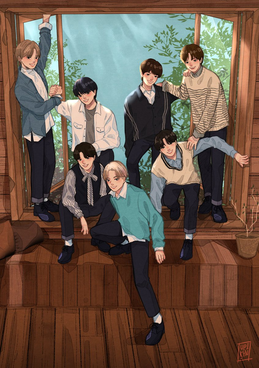 Replying to @Upi_Kyn9: Finally OT7 💕✨  #ENHYPEN #ENHYPENfanart @ENHYPEN_members