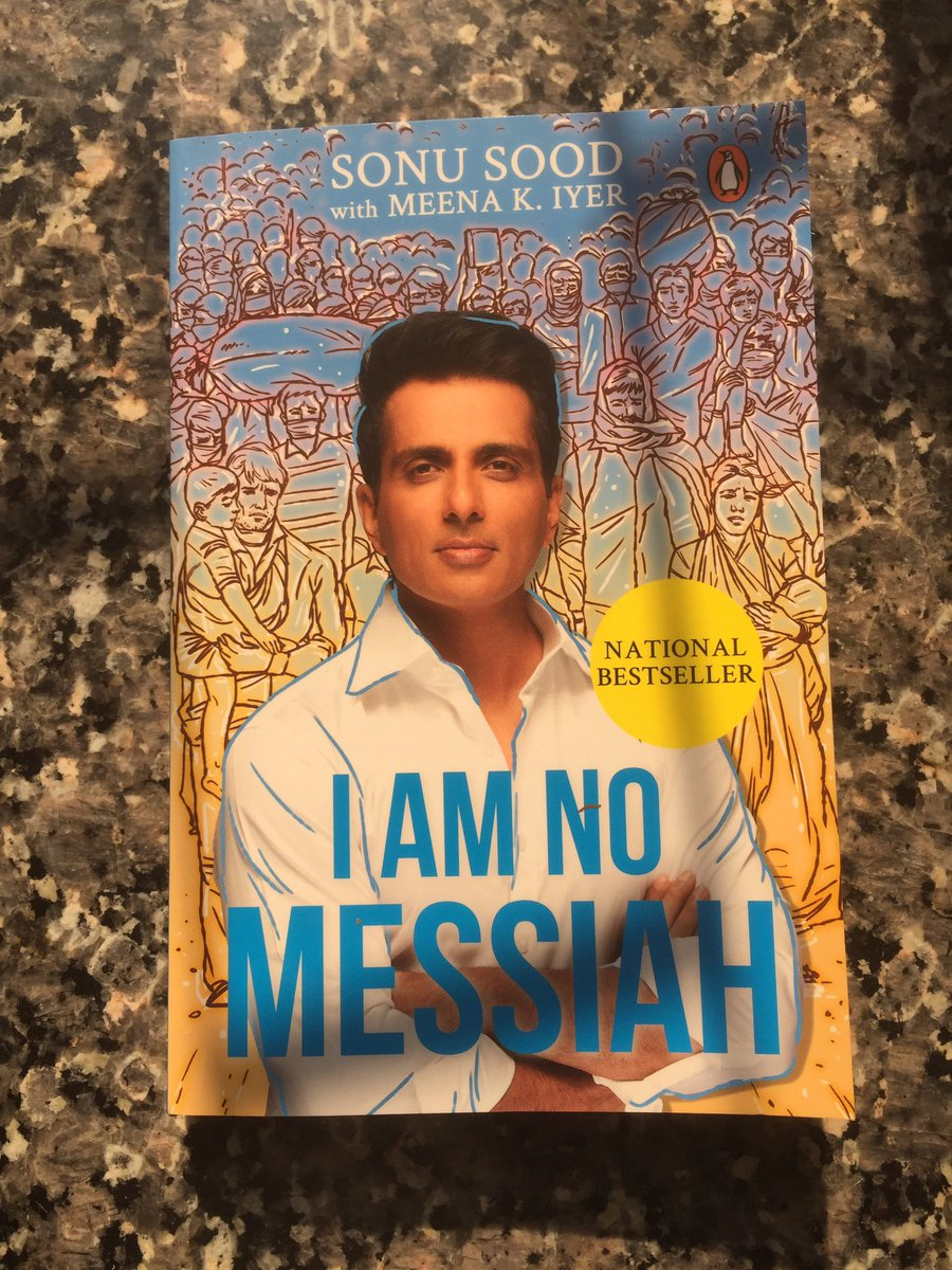 Starting to read #iamnomessiah . More power to you bhai @SonuSood