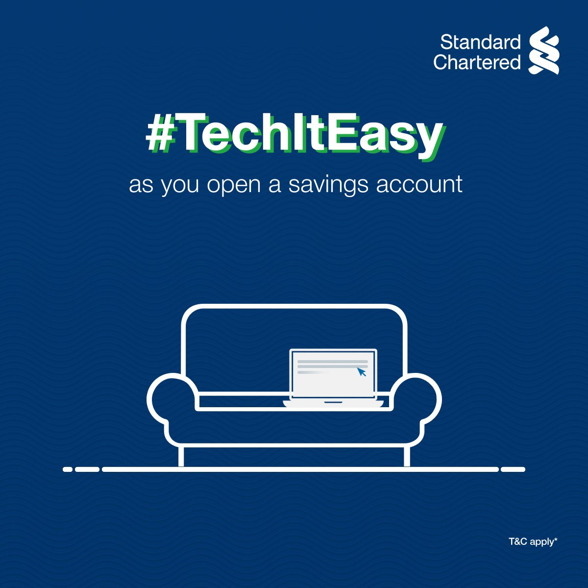 Time is money. So how about you save both? #TechItEasy with Standard Chartered and open a Savings Account within minutes! ✅Simply fill the online form ✅Verify your documents with a Video KYC  ✅Open your account instantly!   To know more,