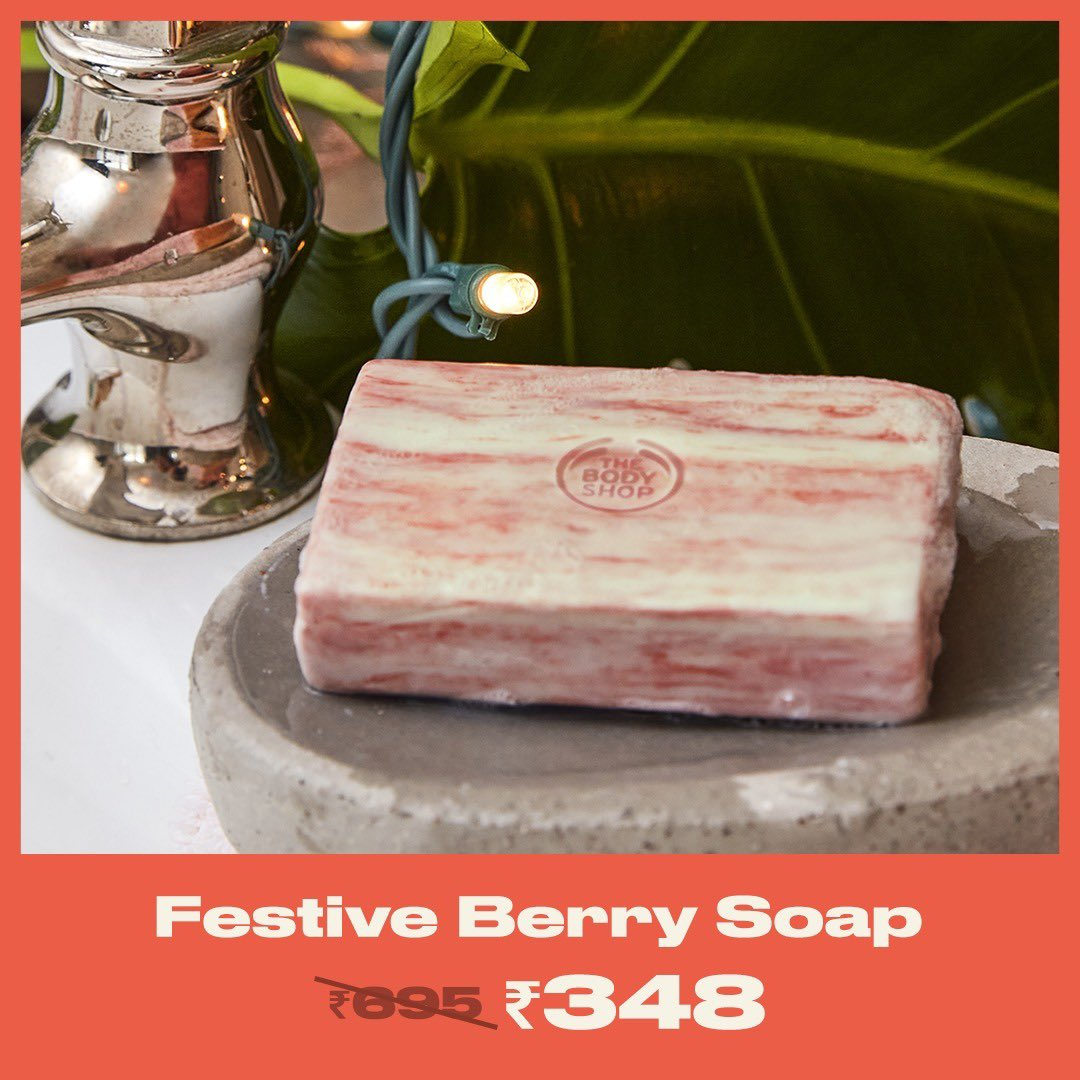 Get your body smelling SERIOUSLY SWEET with our Festive Berry Soap. Bathe in that juicy scent and feel berry refreshed. This 100% vegan #BerryWarmWinter treat is available at a #Saletastic price! Shop Online (link in bio), in-store or via home delivery call +917042004412 #TBSInd
