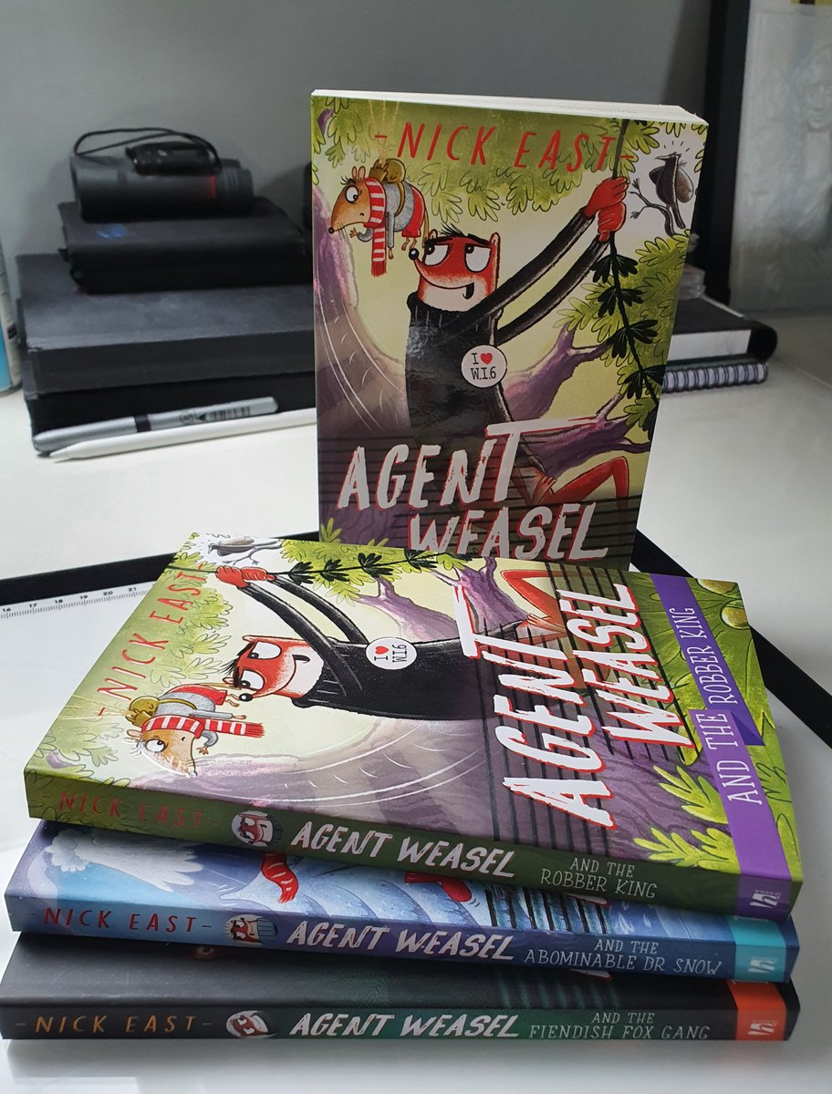 #GiveawayAlert to celebrate the publication of #agentweasel and the Robber King, I'm giving away a signed set of books 1,2 & 3. And a piece of artwork of your choice (see the pics). Like and retweet - good luck my friends @HachetteKids @HCGFictionTeam