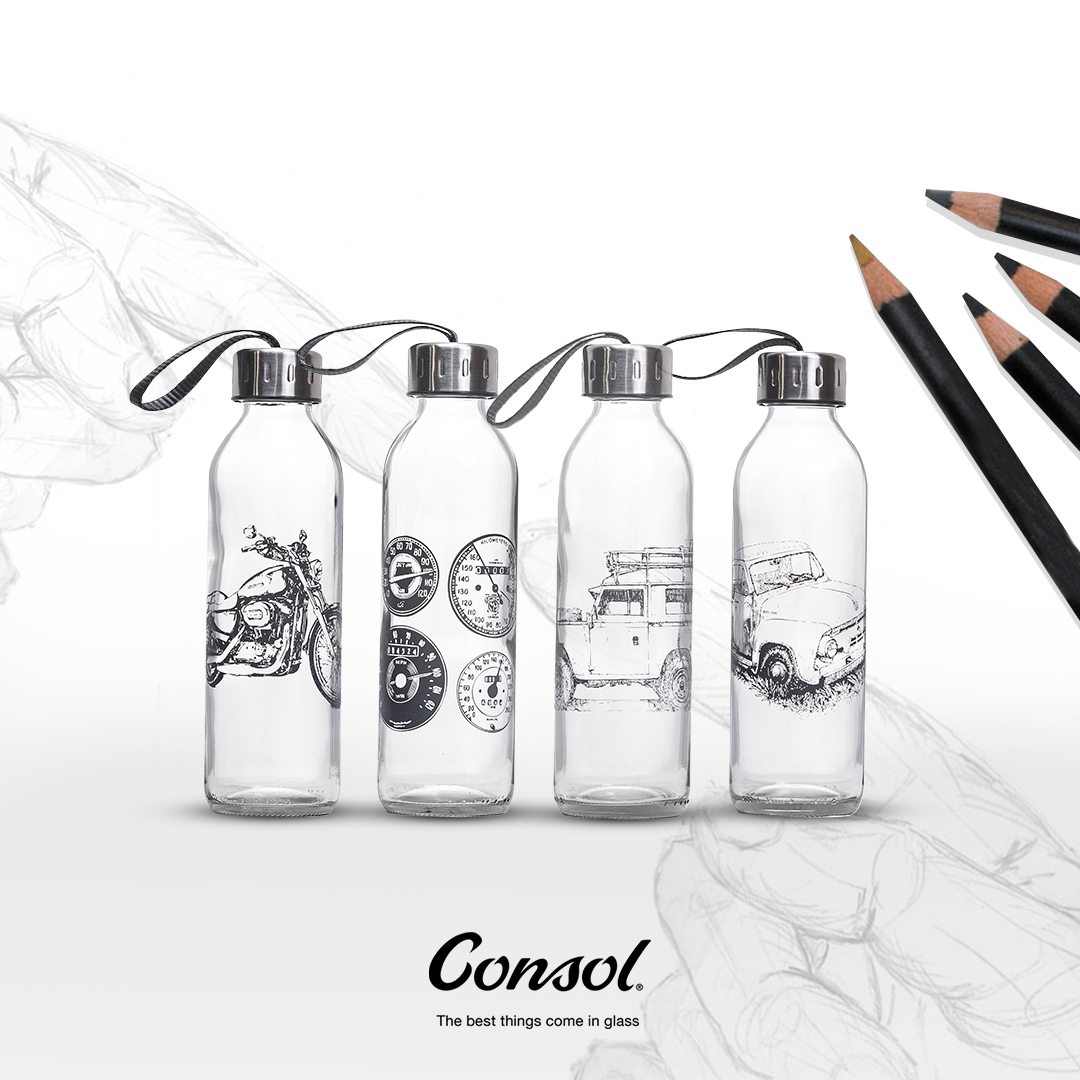 Our 500ml Consol Sketch Bottle looks beautiful and is sure to be a fine water drinking companion. If you're looking to draw some eyes this year, choose glass. Get yours for R50 at your nearest Consol Shop: https://t.co/WQg5Ty8c14 #ConsolGlass https://t.co/BGUcz1GMFZ