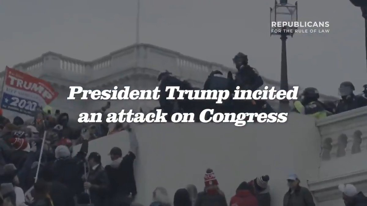 New Ad: The President did this.  Trump incited a mob of violent thugs to storm the U.S. Capitol to disrupt the recognition of a free and fair election. He must be removed from office.  Airing in D.C. on CNN, MSNBC, and Fox all day today.
