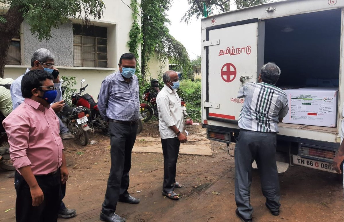 #Covishield vaccine doses for four districts reach Coimbatore. @THChennai