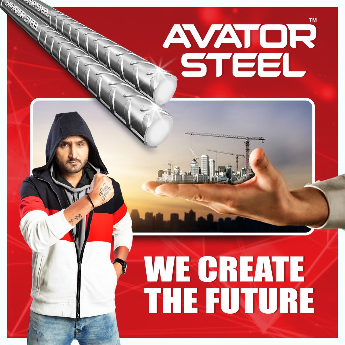 Made with the latest technology, #AvatorSteel's strength is unmatched.   #HarbhajanSingh  @harbhajan_singh