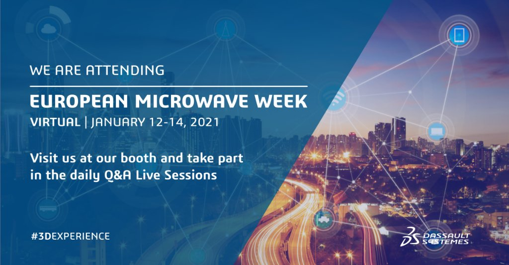 #Antennas and electronic components are part of our everyday lives. #Electromagneticsimulation plays an important role in their development process.  Visit us at the virtual European Microwave Week today and tomorrow and find out more. https://t.co/eA6BLZ7MXS https://t.co/307CxYmZMw