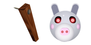 Daisy is a skin, which looks like a hybrid of a dolphin and a donkey in a pink dress. #CustomCursor #Cursor #pointer #Piggy #fanart #GameCursors #Roblox #RobloxCursors #Dolphin #Daisy #WoodenPlank #Donkey