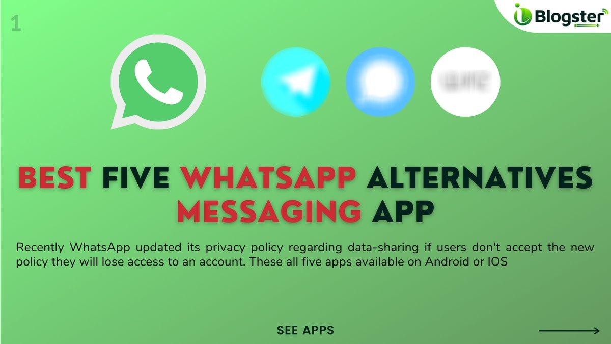 ➡️Best five #WhatsApp alternatives messaging app  #Telegram #SignalApp #WIREDHQ #threema #LINE #Trending #TrendingNow #trendingnews #messaging #NEWSUPDATE #news #business #businessowners #businessgrowth #businessservices #businessmarketing #iblogster #smartiblogster #India