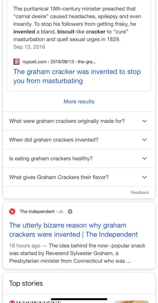 Today tiktok taught me why graham crackers were invented... https://t.co/MvtLwTlnIR