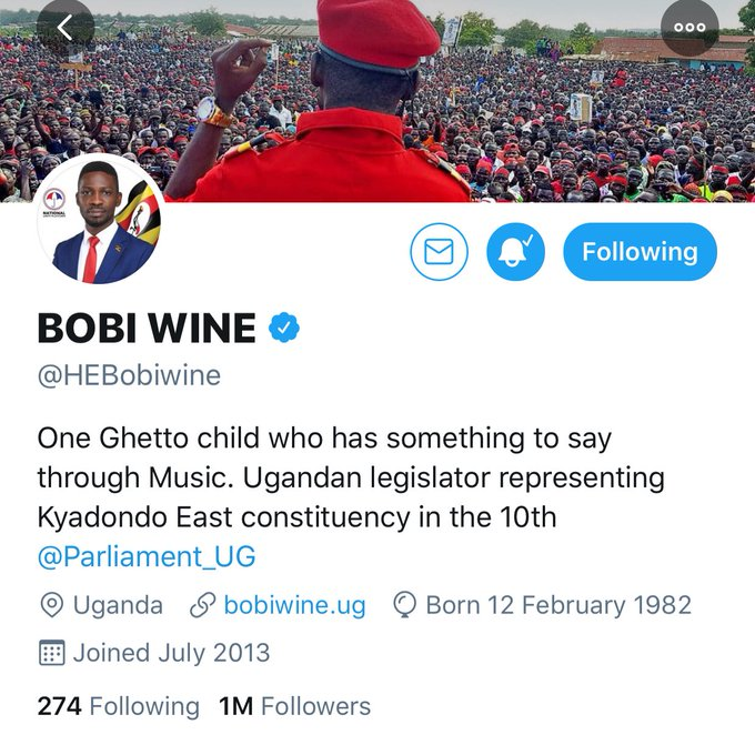 Robert Kyagulanyi alias Bobi Wine (Picture: Twitter)