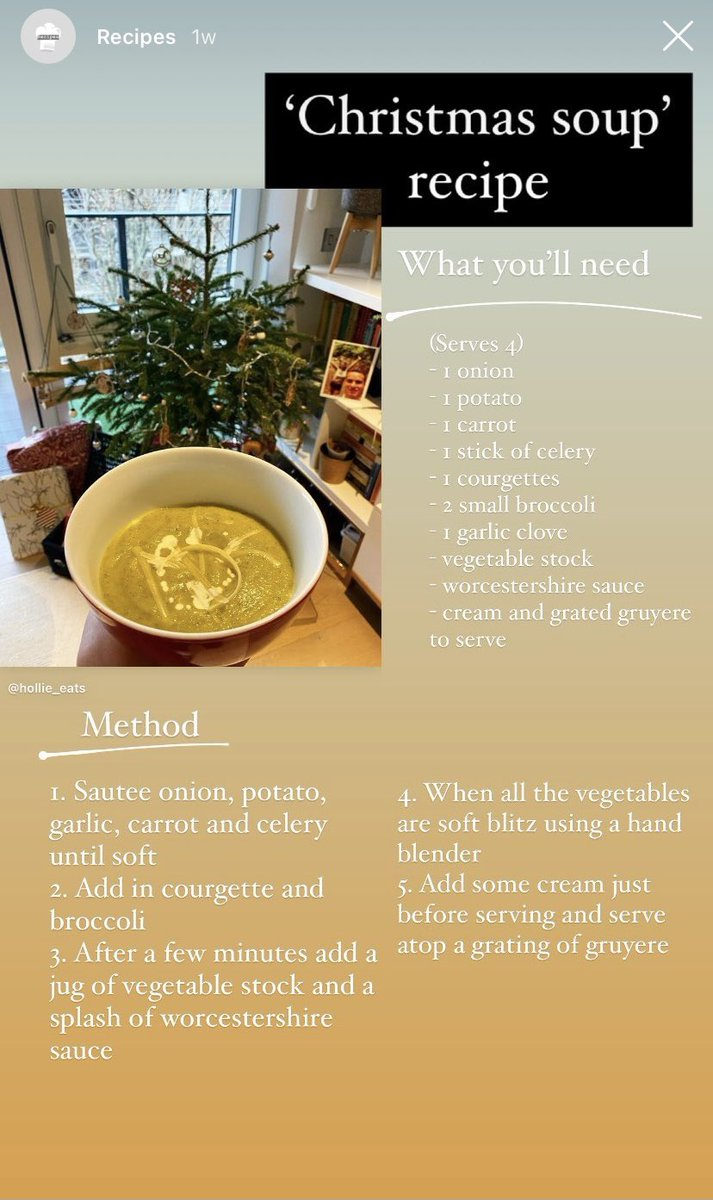 Still holding on to the holidays? Give this 'christmas soup' recipe a try and let me know what you think #soup #trythis #recipe