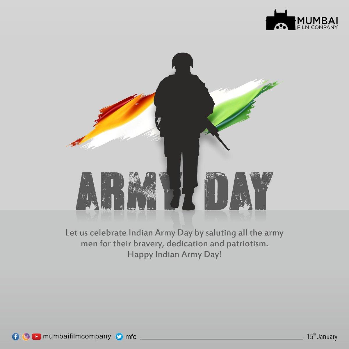 देशाच्या रक्षणासाठी निस्वार्थ सेवा करणाऱ्या भारतीय सैन्याच्या कर्तृत्वास सलाम! . . . #indianarmyday #IndianArmy #MFC